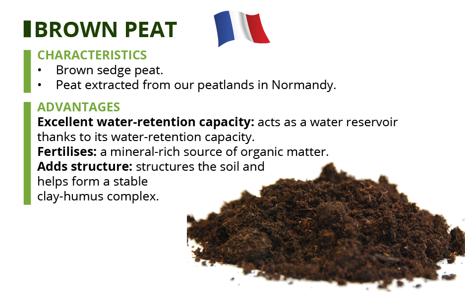 brown peat